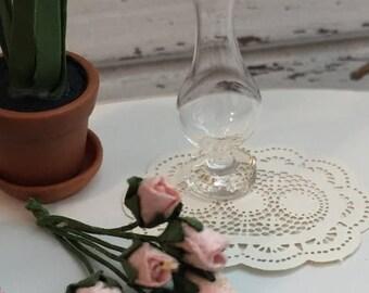ON SALE Miniature Glass Vase, Dollhouse Miniature, 1:12 Scale, Dollhouse Accessory, Decor, Mini Vase, Glass Vase