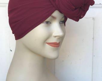 Multi Use Georgette Handkerchief Scarf - Burgundy