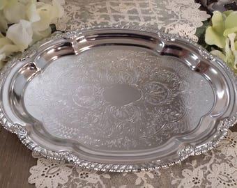 Vintage Sliver Plated Tray