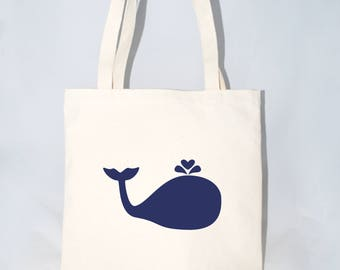 Large Whale Tote Bag