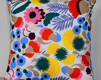 """Unique Marimekko Pillow Cover, Handmade, 15""""x15"""" (38x38cm)"""
