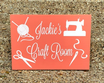 Craft Room Sign ~ Knitting Room Custom Wood Sign ~ Sewing Room Sign ~ Sewing Room Decor ~ Mimi Gift ~ Grandma Gift ~ Gifts For Crafters