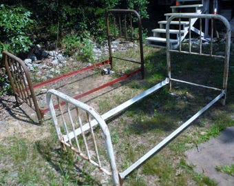 Antique Set of 2 Cot Size Beds with Rails - Ups shipping (Details below) or Local Pick Only