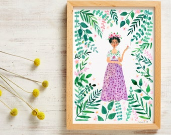 Frida Kahlo Poster A4 Print A3