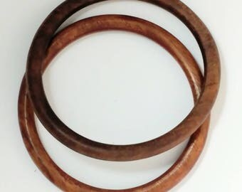 Brown Wood Bangle Set Bracelet