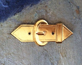 Metal buckle stampings for scrap booking journal detail