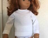 White Long Sleeved T Shirt for Sasha or Gregor Doll