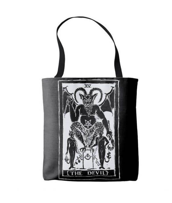 The Devil Tarot Card Tote Bag