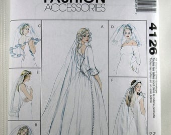 ON SALE McCall's 4126, Misses' Bridal Accessories Pattern, Bridal Veils Sewing Pattern, Sewing Pattern, Misses', All Sizes Included, Uncut