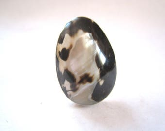 Mid Century Modern Sterling Ring - Size 8