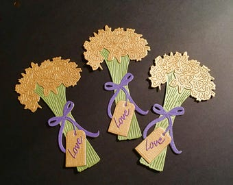 Pretty Bunches of Daffodil Flower Die Cuts - Set of 3