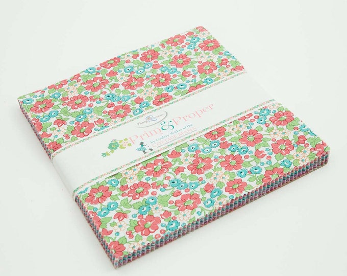 "10"" Stacker - 42 Pieces - Prim and Proper Fabric by Lindsay Wilkes for Riley Blake Designs and Penny Rose Fabrics"