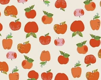 Red Apples Natural from Kinder Collection by Heather Ross for Windham Fabrics