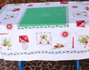 1960's Era Funky Vintage Tablecloth