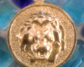 1970's Vintage Leo Zodiac Sign Charm