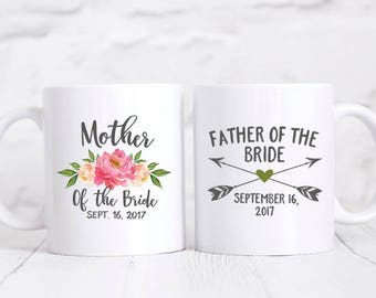 Father of the Bride Gift from Bride Father of the Bride Gift from Daughter Mother of the Bride Gift from Bride Pink Mother of the Bride Mug