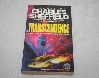 Vintage Paperback Book Transcendence By Charles Sheffield, Book 3 of The Heritage Universe 1992 Sci Fi