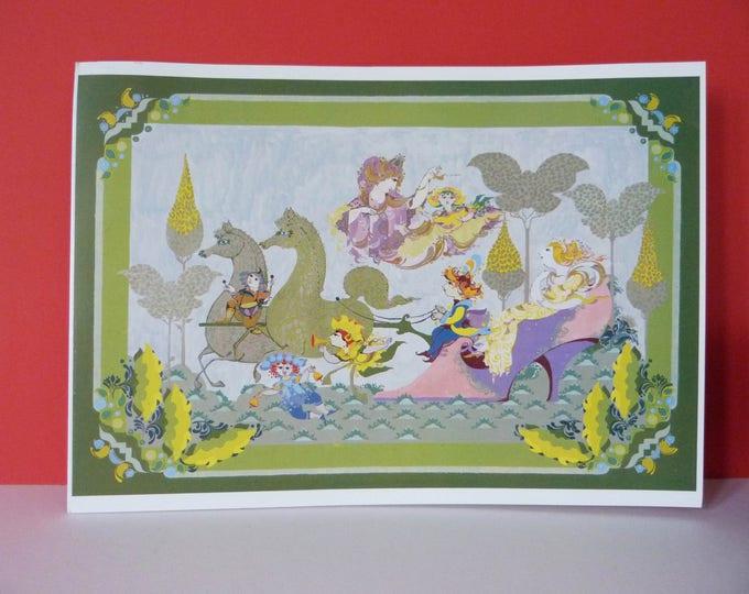 Bjorn Wiinblad Extra Large Greetings card Cinderella