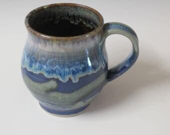 Big mug / handmade / coffee mug / stoneware mug  / tea cup / pottery /  / blue mug / 18 oz