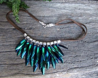 Boho Beetle Wings Necklace