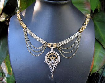 Chainmaille Steampunk Necklace
