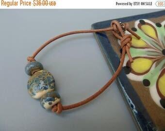 On Sale Leather Bracelet, Suede Cord Bracelet, Leather Cord Bracelet, Layering Bracelet, Boho Bracelet, Boho Jewelry, Artisan Lampwork Brace