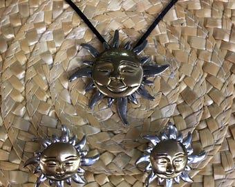 Sun Theme Necklace/ Brooch & Earrings UNDER 20