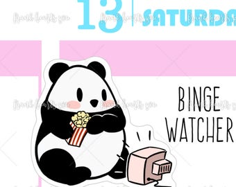 TV Panda Planner Stickers - Mini Sheet MULTI SIZES
