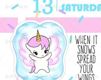 Snow Angel - Sprinkles Planner Stickers