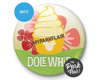 """3"""" Pineapple Dole Whip SCENTED Disney Button"""