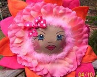 Alice in Wonderland Flower Pillow