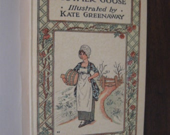 Vintage Mother Goose  Illus. by Kate Greenaway  1970s Frederick Warne & Co.  Facsimile  Children's Book  Charming Illustrations  Lovely Gift