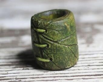 Leaf like dreadlock bead 10mm