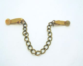 Gold Tone Sweater Clip - Sweater Guard