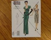 Vintage Sewing Pattern - Vogue 2858 - V2858 - Vogue Vintage Model - Evening Gown - Sweetheart Neck - Pattern - 34 - 38 Bust - 1940s Pattern