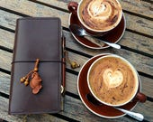 Custom Coffee - Pick Your Travelers Notebook Size and Colours for Coffee Leather Doodledori