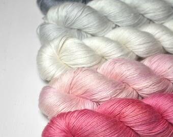 Musophobiac's doom - Gradient of Silk/Cashmere Lace Yarn