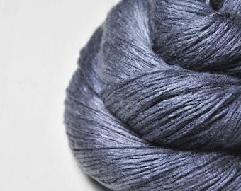 Stormy gray sea - Fleece Silk Lace Yarn - LIMITED EDITION