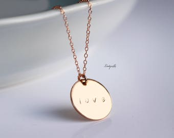 Gold Necklace - Love personalized