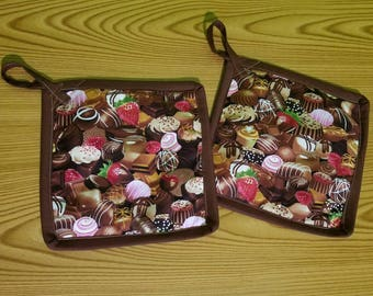 Chocolate Set of 2 Potholders