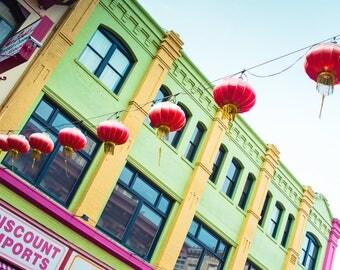 San Francisco Wall Art, Chinatown Photo, Chinese Lanterns, Photograph, Cityscape Photo, California, Asian Art, Travel Photography, Decor