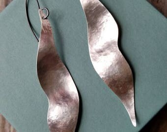 Bold, Silver and Sterling Silver Earrings