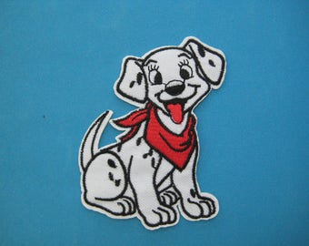Iron-on embroidered Patch Dalmatian dog 3.75 inch