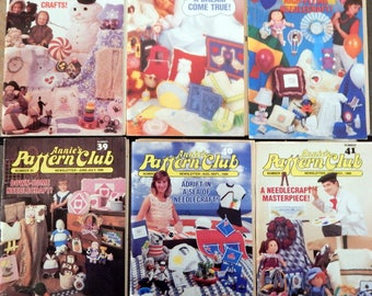 Annie's Pattern Club Newsletter Magazine Full year 1986  Crochet Dolls, Afghans, Sew Pillows, Dolls, Cats, Baby & More