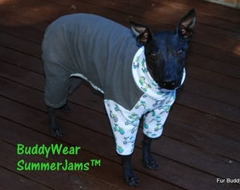 "BuddyWear Summer Jams™ for Italian Greyhounds, Hairless Terriers, Cresteds and all small dogs up to 18""."