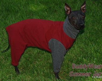 "BuddyWear™ Summer Cotton Jersey cover ups for Italian Greyhounds, Hairless Terriers, Cresteds and all small dogs up to 18""."