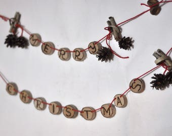Christmas  Ornaments • Christmas birch and pine  ornaments • Merry Christmas ornament  • holiday Christmas ornament