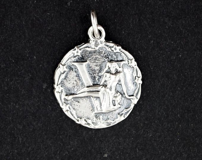 Zodiac Medallion Virgo in Sterling Silver