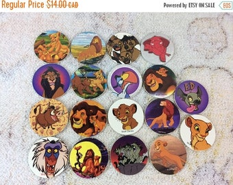 20% SALE Collection of 1990s Blank Back Disney The Lion King Pogs 90s Kids Games Milk Caps