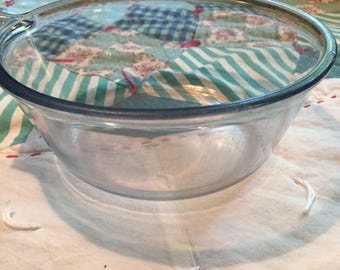 Vintage Blue Pyrex Flameware Sauce Pan Made in The USA #4181